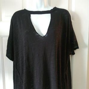 Black Choker tunic top